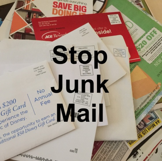 Stop unwanted mail by visiting these 3 websites: DMAchoice.org, catalog choice.org, optputprescreen.com